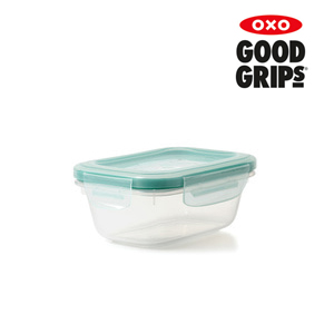 플라스틱 직사각 밀폐용기 - 0.38L (1.6컵)