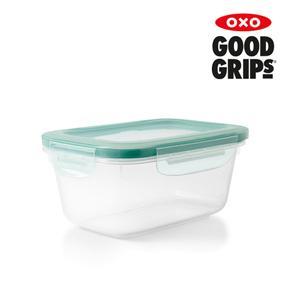 플라스틱 직사각 밀폐용기 - 1.1L (4.6컵)